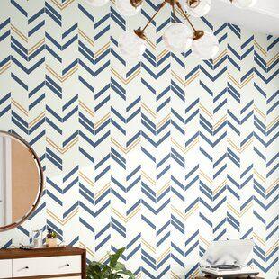 Herringbone Line Navy Peel Stick Fabric Wallpaper Etsy Boys Bedroom Wallpaper Herringbone Wallpaper Fabric Wallpaper