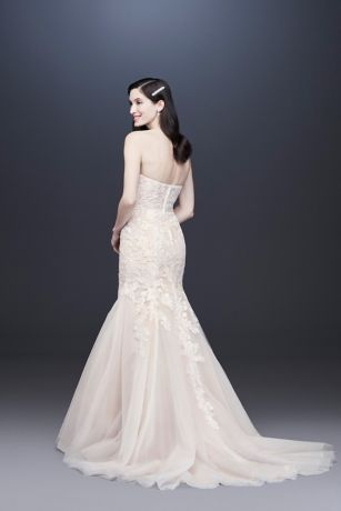 Floral Beaded Lace And Tulle Mermaid Wedding Dress Wedding Dress