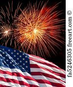 Free Art Print Of The American Flag And Fireworks Patriotic