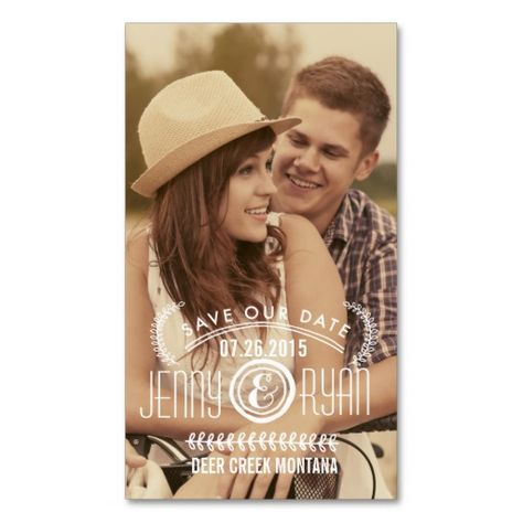 Save the date business card size idea hill sudduth wedding save the date business card size idea reheart Gallery