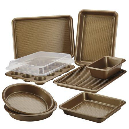 Ayesha Curry Bakeware Set Copper 10 Piece In 2019 Square Cake