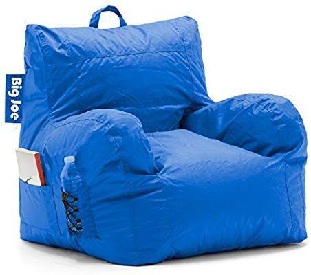 Amazon Com Big Joe Dorm Bean Bag Chair Sapphire Blue Kitchen Dining Bean Bag Chair Bean Bag Gaming Chair Cool Bean Bags