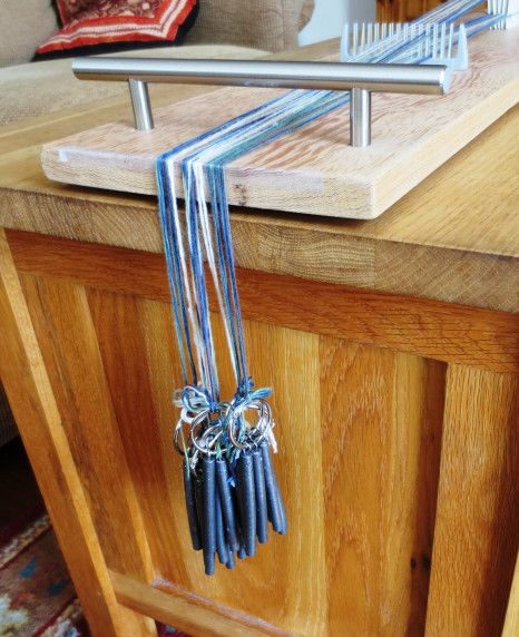 A Warp Weighted Tablet Weaving Loom Celtic Weaving In 2021 Tablet Weaving Loom Weaving Weaving