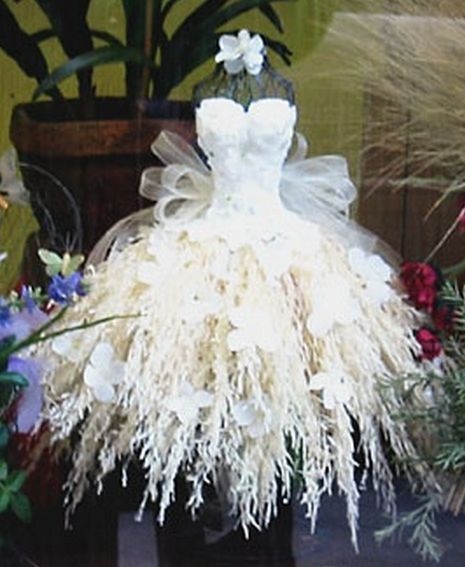 ℘ Paper Dress Prettiness ℘ art dress made of paper -