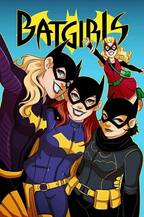 Batgirls Stephanie Brown, Barbara Gordon, Casandra Cain, Betty Kane