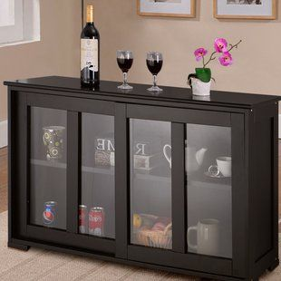 Glass Door Sideboards Buffets You Ll Love Wayfair Home Storage Cabinets Kitchen Cabinet Storage Dining Room Buffet