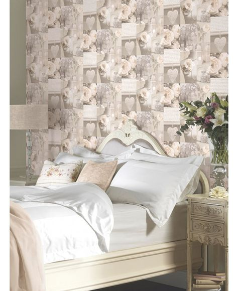 FELICITY PARIS WALLPAPER NATURAL ARTHOUSE 665400 BUTTERFLY ROSE