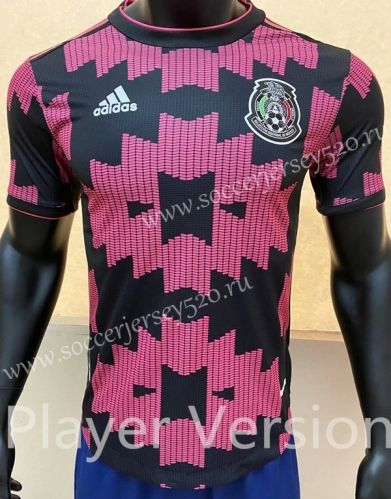 Player Version 2020 2021 Mexico Home Black Pink Thailand Soccer Jersey Aaa Fl In 2020 Soccer Jersey Football Sweater Soccer