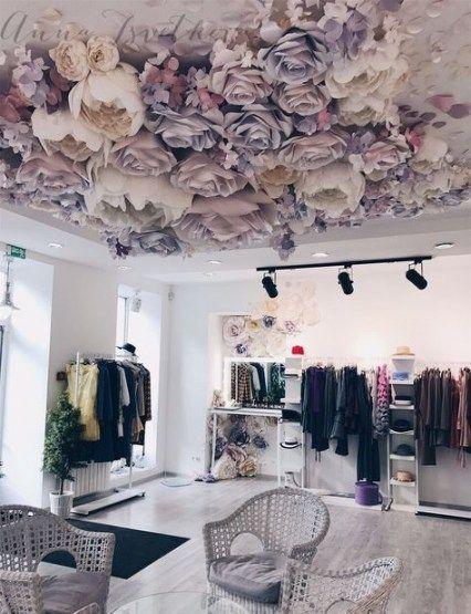 Papel Decoracion De Flores Gigante En El Bricolaje Flower Ceiling Decor Paper Flower Decor