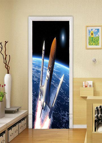 E Shuttle Rocket Ship Decor With