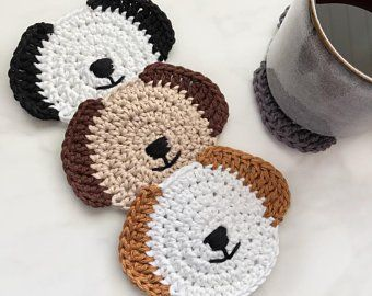 cat mom gift crochet gift mug coaster cat coaster crochet coaster,cat mom coaster cat lover/'s coaster crochet cat coffee coaster,