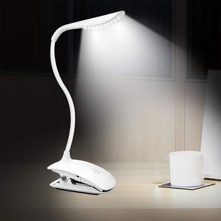 Clip On Reading Light Touch Sensitive Wireless Recharg Eable