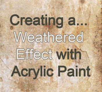artpromotive - How to create a vintage/rust/aged/weathered look with acrylic paint | furniture re-dos | Pinterest | Rust, Acrylics and Vintage