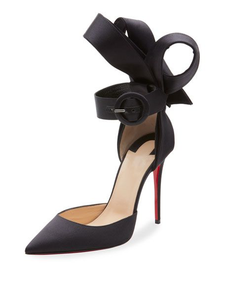 half off 5951e eab26 Christian Louboutin Raissa Satin Red Sole Sandals in 2019 ...