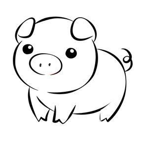 Cerdos Para Colorear Com Cerdo Dibujo Animales Animados Para Colorear Cerdo Para Colorear