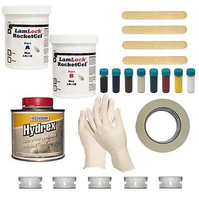 Sponsored Ebay Lamlock Rocketgel Stone Chip Repair Kit With Tenax Hydrex Sealer Countertops Kitchen Countertops Granite Countertop Repair