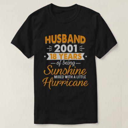 2019 Custom Ideas For Biracial Couple Husband 2001 18 Years Wedding Anniversary 2019 T Shirt | Zazzle