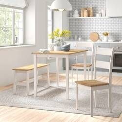 Alfreda Folding Dining Set With 4 Chairs Dining Table Setting Dining Set Dining