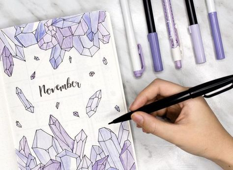 Photo of 23 Crystal inspired bullet journal spreads | My Inner Creative
