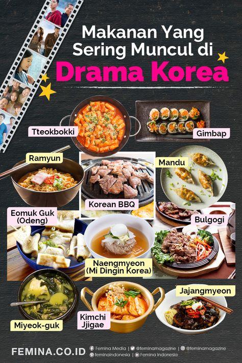 Makanan Makanan Yang Sering Muncul Di Drama Korea Di 2020 Makanan Resep Masakan Korea Masakan Korea