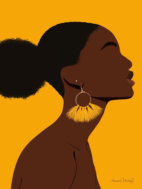 Black Art Painting, Black Artwork, Black Girl Art, Black Women Art, African American Art, African Art, Diy Canvas Art, Small Canvas Paintings, Art Deco Paintings
