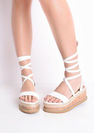 flatform sandals   Lace up wedges