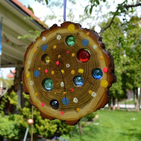 Garden crafts, Crafts, Garden, Garden decor, Garden art, Diy garden - Bring sunshine into your life and your garden  With this lovingly handmade sun lens you succeed in no time  Hits light or -  #Gardencrafts