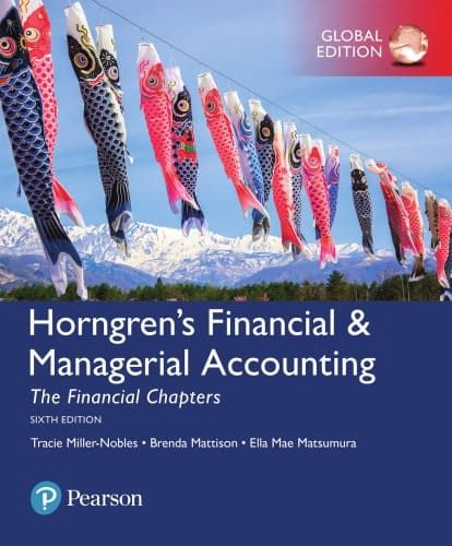 Horngren S Financial Managerial Accounting The Financial Chapters 6th Edition Global Ebook Managerial Accounting Accounting Financial