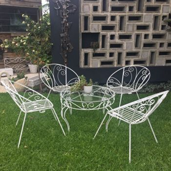 Wrought Iron Furniture Outdoor Chairs