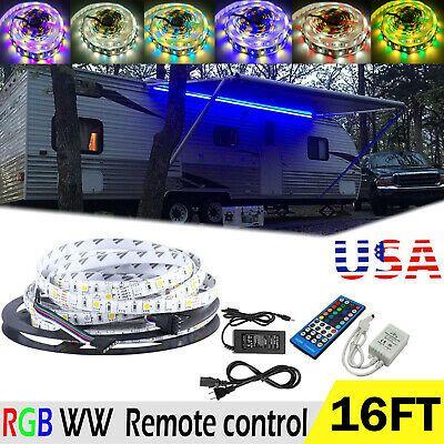 Sponsored Ebay Rv Awning Camper 16ft Rgb Ww Color Changing Led Strip Light Remote Controll Kit Color Changing Led Camper Parts Strip Lighting