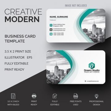 Business Card Template Design Vector Creative Modern Abstract Name Business Cards Creative Business Card Design Software Business Card Design Creative