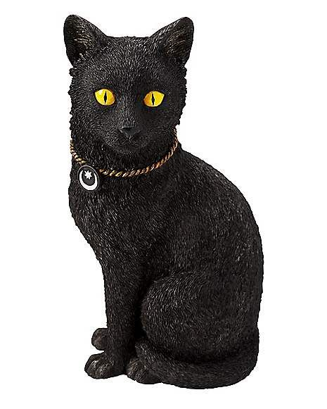 10 Inch Black Cat Decorations Spirithalloween Com Black Cat Decor Halloween Props Spooky Halloween Decorations