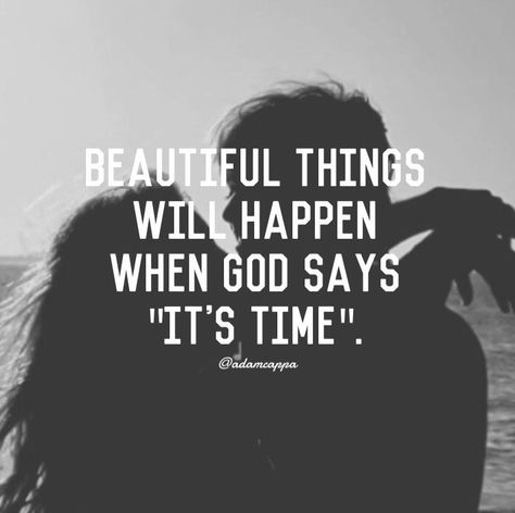 Gods timing is perfect Faith Quotes, Bible Quotes, Qoutes, Peace Quotes, Biblical Quotes, Meaningful Quotes, Quotations, Godly Dating, Godly Relationship