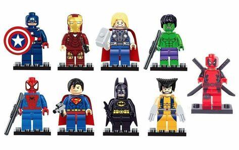 Custom Super heroes Mini Figures Various MiniFigs Lego SuperHeroes Minifigures