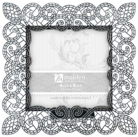 Malden International Designs 4x6 Dark Grey Scoop