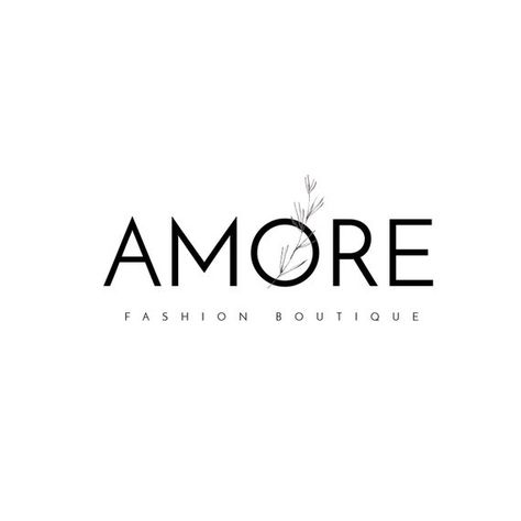 Amore Logo template, floristic logo, flowers logo, fashion boutique logo, watercolor logo template,