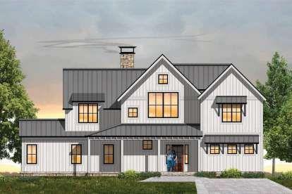 House Plan 098 00313 Modern Farmhouse Plan 2 453 Square Feet 3 Bedrooms 3 5 Bathrooms In 2020 Modern Farmhouse Plans House Plan With Loft House Plans