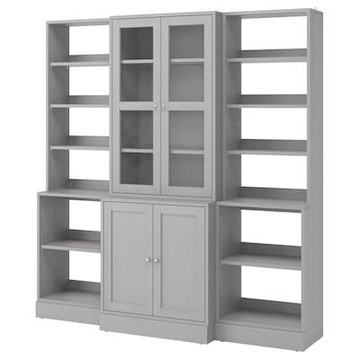 Hemnes Storage Combination W Doors Drawers White Stained Clear