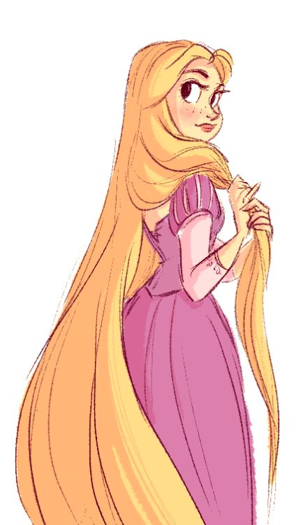 snarkies:  quick Rapunzel sketch. I haven't drawn her in so long!
