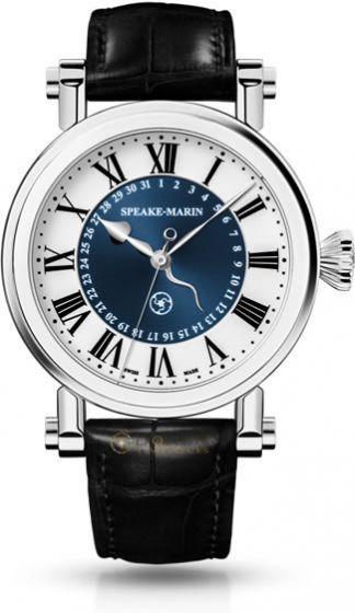 Speake-Marin Serpent Calendar 42mm Titanium Blue - Exquisite Timepieces
