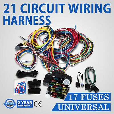 21 Circuit Wiring Harness For Chevy Universal Wires Fit X Long 91 50 Picclick Circuit Hot Rods Cars Muscle Chevy