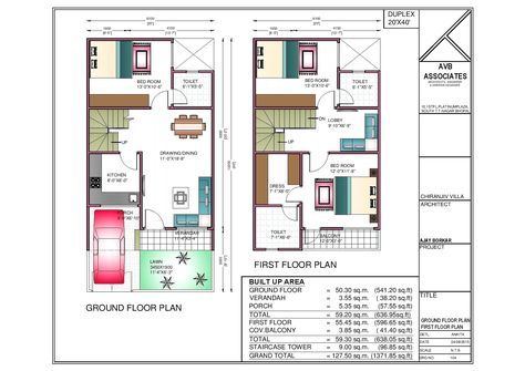 20x40 House Plan With Interior Elevation Complete Design 20x40 House Plans House Plans Narrow House Plans