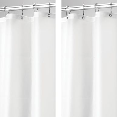 Mdesign Vinyl Shower Curtain Liner For Bathroom 72 X 72 Clear