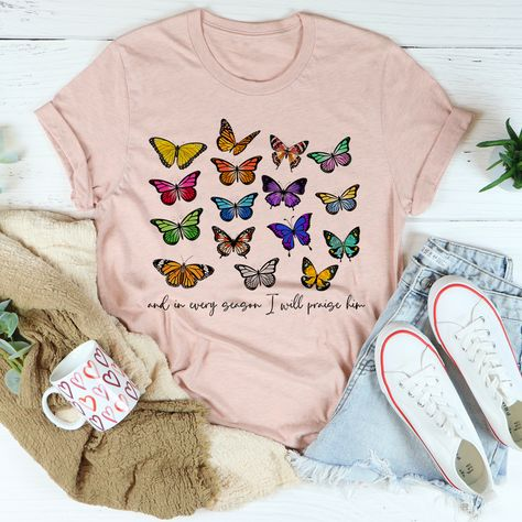 And In Every Season I Will Praise Him Butterflies Tee #momstyle #wearingtoday #momadvice #whatiwear #shopping #teacherfashion #style #affordablestyle #sahm #liketoknowitstyle