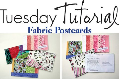 The Creative Place...Fabric postcards