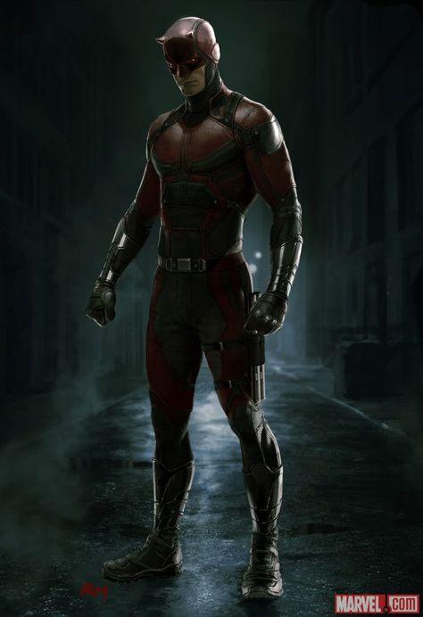 Marvel divulga concept art do uniforme do Demolidor utilizado na série