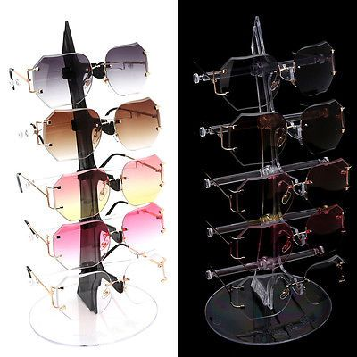fd8bcaf93 Details about 5 Pair Acrylic Sunglasses Glasses Show Rack Counter Display  Stand Holder Hot in 2019 | exhibidor II | Counter display, Glasses, Counter