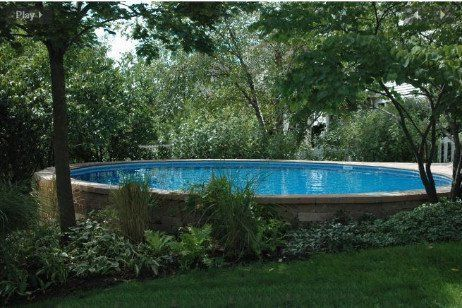 Ultimate 15 Round Pool Kit Synthetic Wood Coping Above Ground Pool Landscaping Round Above Ground Pool Above Ground Swimming Pools
