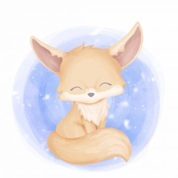 Baby Fennec Fox Cute Animal Animal Clipart Adorable Animal Png And Vector With Transparent Background For Free Download Animal Clipart Cute Animals Fennec Fox