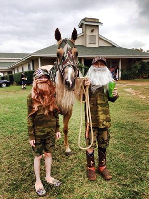 Duck Dynasty for my kiddos and our reining horse.-Meridith Geiselman Copeland- that is awesome!